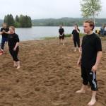 Eidskog Naturbarnehage var en av mange lag som deltok i Sandvolleyball konkurransen.