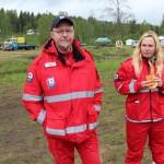 Røde Kors var til stede og tok jobben alvorlig.
