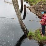 Remi Aune Vestengen fikk napp men ingen fisk i Buåa.