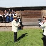 Vestmarka hornorkester og sangkor i samklang