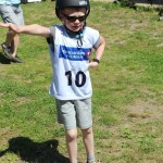 En ung løper må også varme opp