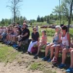Publikum i sola. Foto: Hans Dyblie
