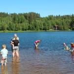 Badeliv i Harstadsjøen. Foto: Hans Dyblie
