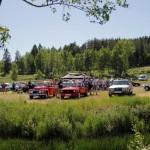 De tre bilene som ble stemt opp på pallen. Vinneren i midten. Foto: Astri Kløvstad