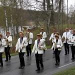 Hornorkesteret marsjerer