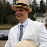 Patrik Andersson stilte sporty opp på svært kort varsel og debuterte i Hornorkesteret