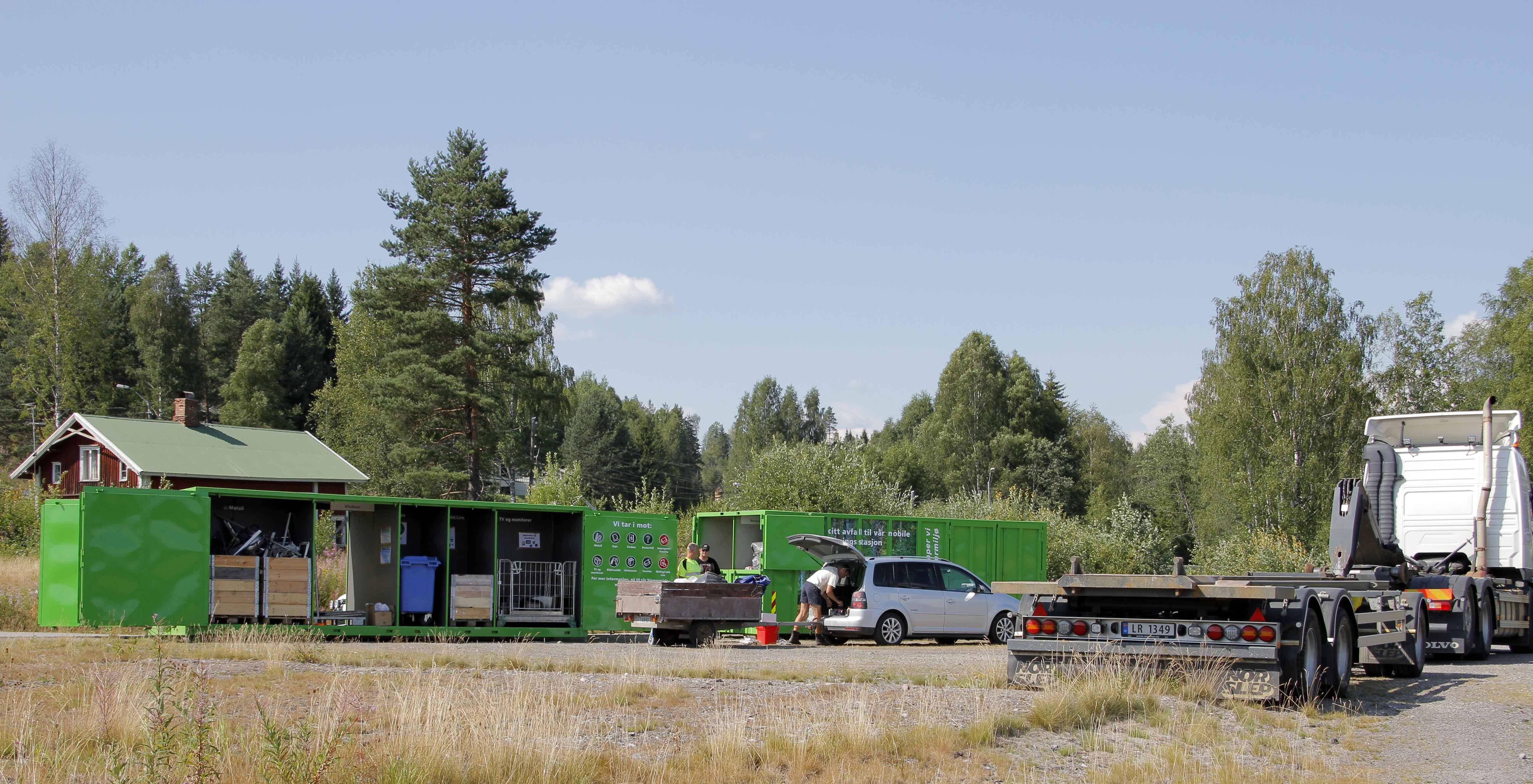 Mobil gjenvinningsstasjon i Brustadvika