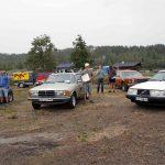 Av de 78 bilene på utstillingen ble disse stemt fram som eier av de fineste. 1.Bjørn Halvorsrud, 2. Martin Billerud og 3. Oscar Melby Foto Astri Kløvstad