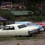 Det var tett mellom glisene på retrobilutstillingen. Foto Astri Kløvstad
