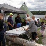 Vestmarka Jeger og Fisk serverte selvrøkt fisk. Foto Astri Kløvstad